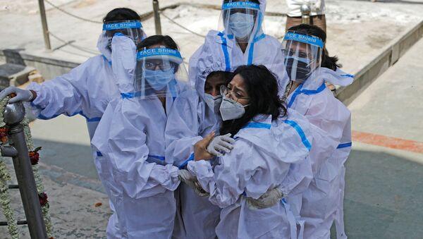 Pandemia koronawirusa SARS-CoV-2. New Delhi, Indie. - Sputnik Polska