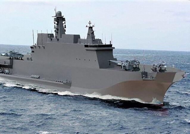 Uniwersalny okręt desantowy projektu 23900  typu Iwan Rogow.