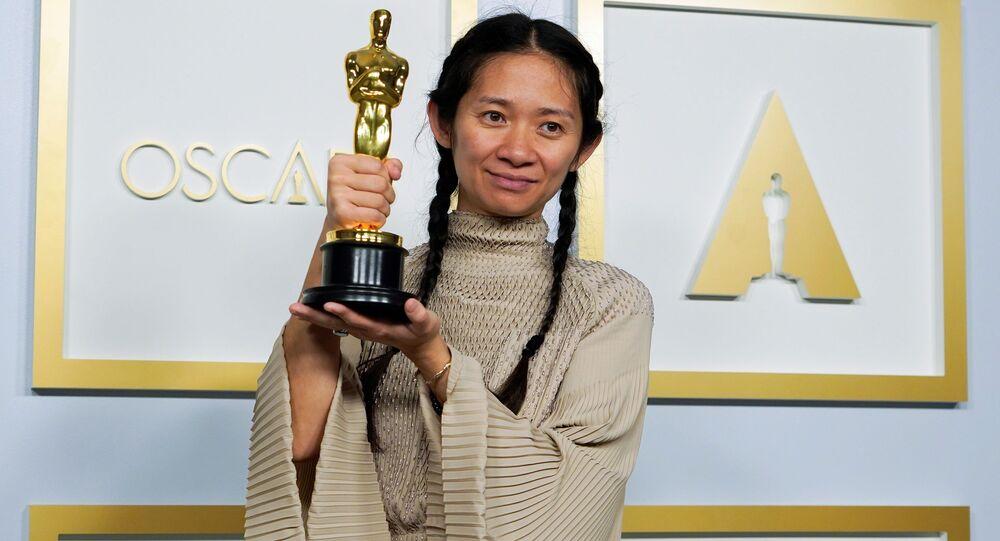 Twórczyni Nomadland Chloe Zhao.