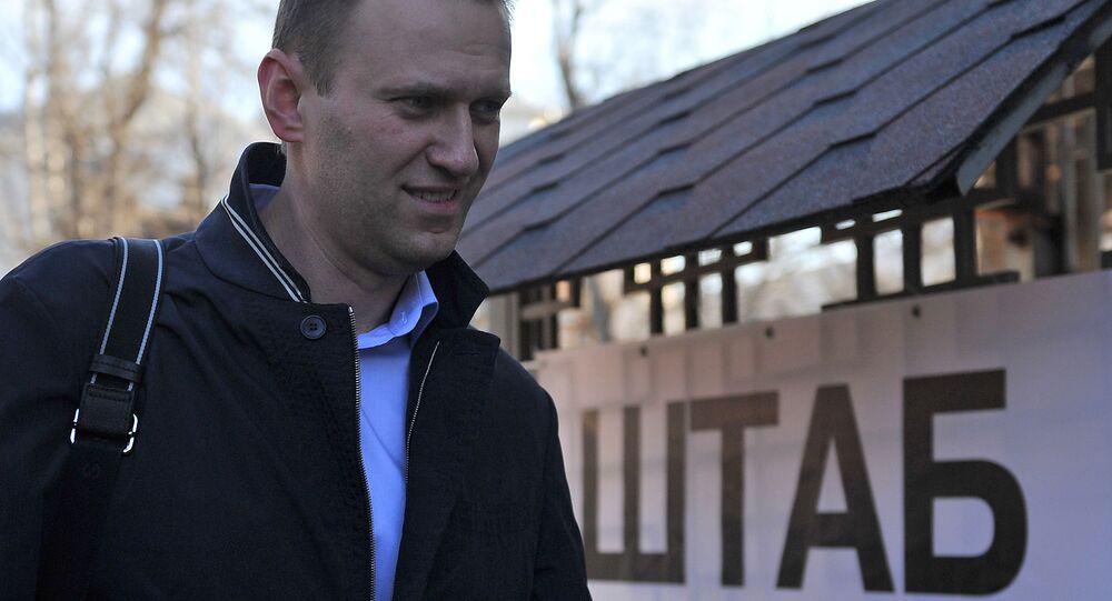 Aleksiej Nawalny przed Sztabem.