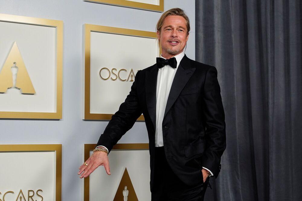 Brad Pitt na 93. ceremonii rozdania Oscarów w Los Angeles