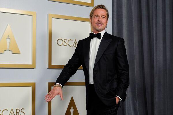 Brad Pitt na 93. ceremonii rozdania Oscarów w Los Angeles - Sputnik Polska