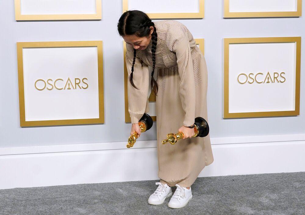 Reżyserka Chloe Zhao na 93. ceremonii rozdania Oscarów w Los Angeles