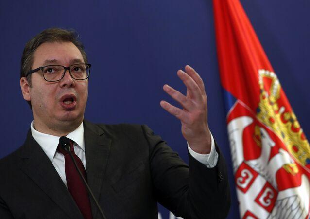 Prezydent Serbii Aleksandar Vučić.