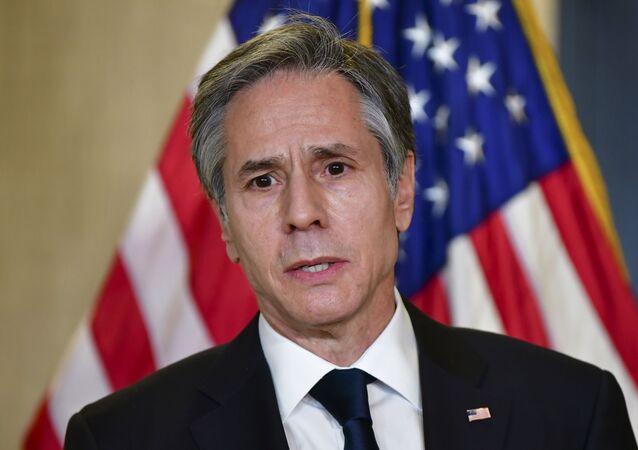 Sekretarz stanu USA Anthony Blinken.