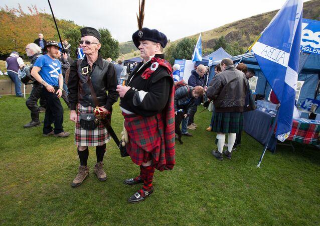 Marsz Niepodległości Szkocji w Edynburgu