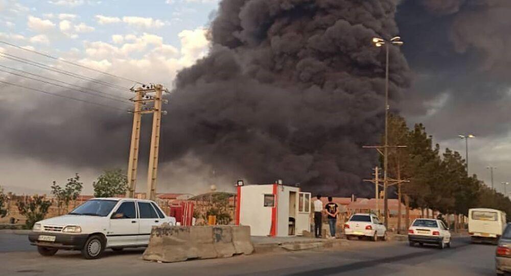Wielki pożar w irańskim mieście Kum