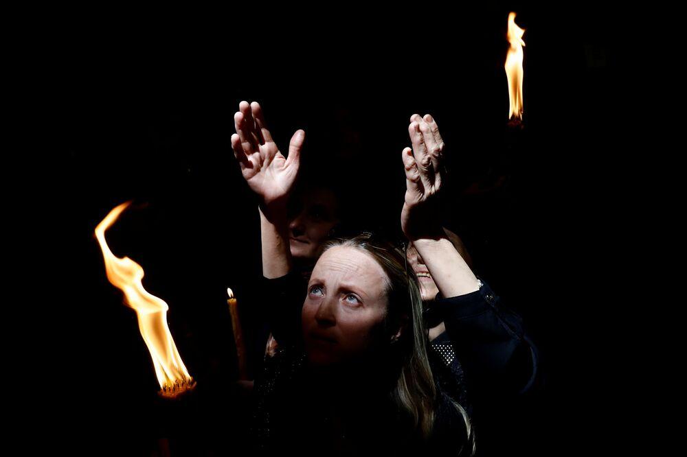 Święty Ogień w Jerozolimie