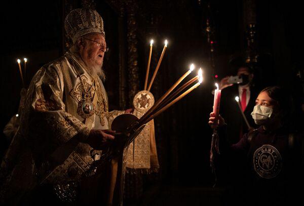 Obchody Wielkanocy Prawosławnej w Stambule - Sputnik Polska