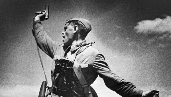 """Dowódca batalionu"", Max Alpert, 1942 rok - Sputnik Polska"