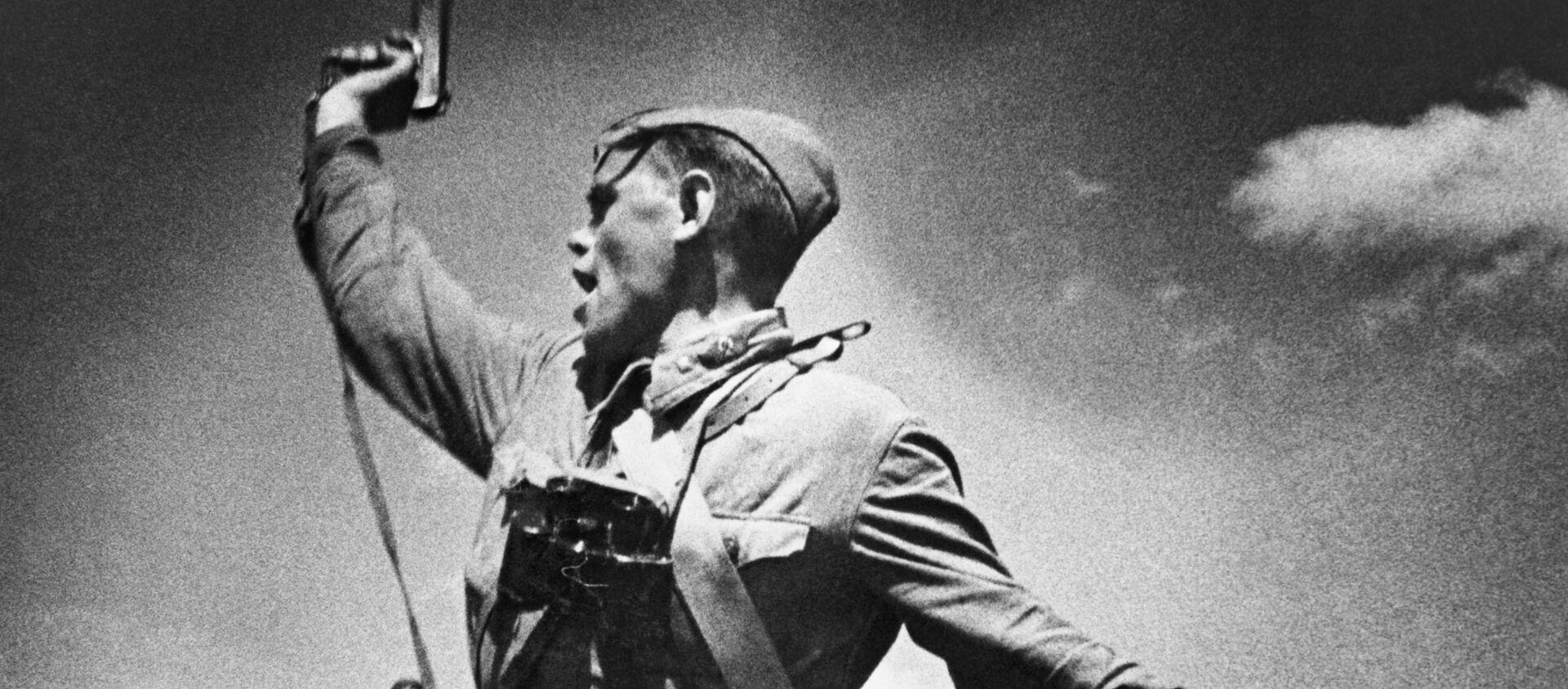 """Dowódca batalionu"", Max Alpert, 1942 rok - Sputnik Polska, 1920, 09.05.2021"