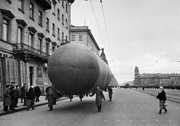 Balon na Newskim Prospekcie w Leningradzie, 1941 rok - Sputnik Polska