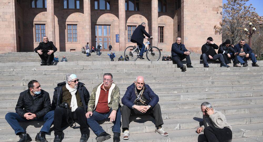 Gmach parlamentu w Erywaniu.