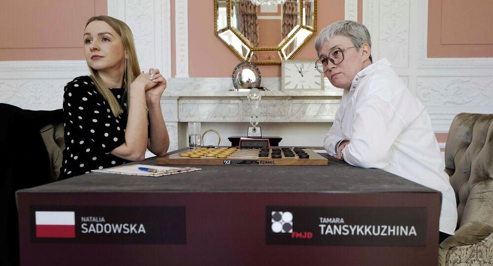 Warcabistki Natalia Sadowska i Tamara Tansykkuzhina.