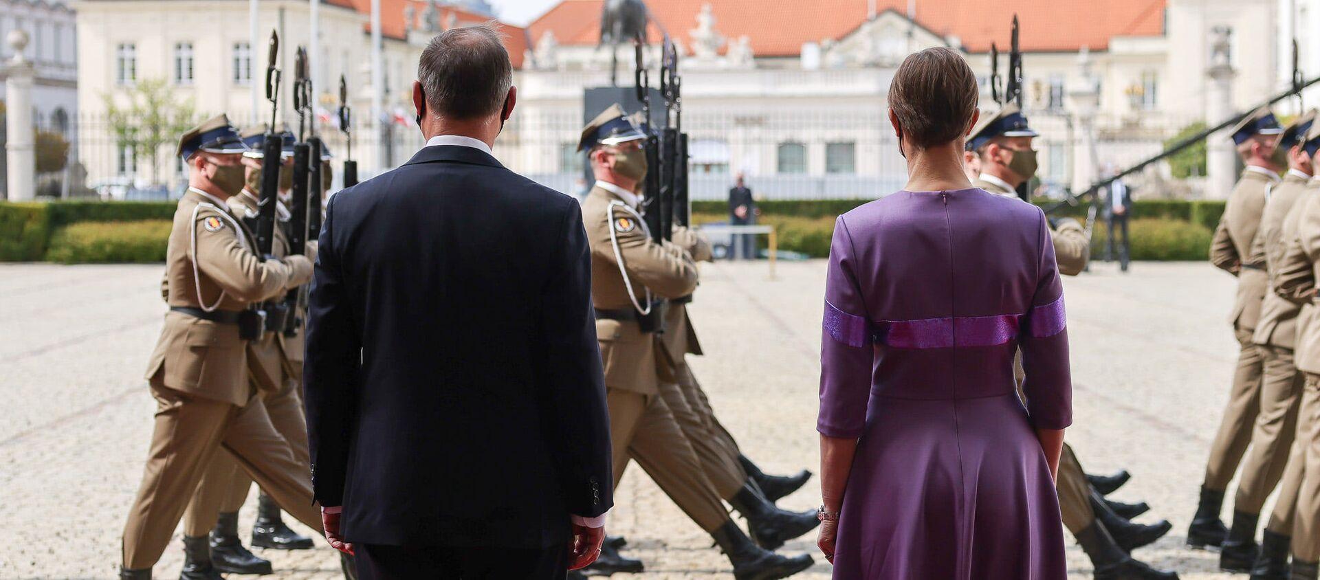 Spotkanie Andrzeja Dudy i Kersti Kaljulaid w Warszawie - Sputnik Polska, 1920, 04.05.2021