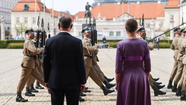Spotkanie Andrzeja Dudy i Kersti Kaljulaid w Warszawie - Sputnik Polska