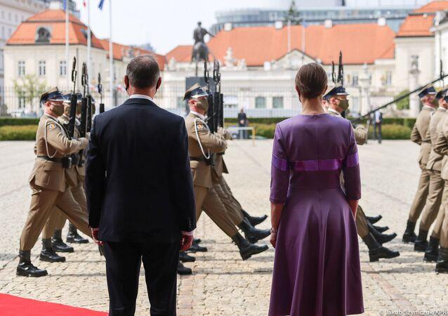 Spotkanie Andrzeja Dudy i Kersti Kaljulaid w Warszawie