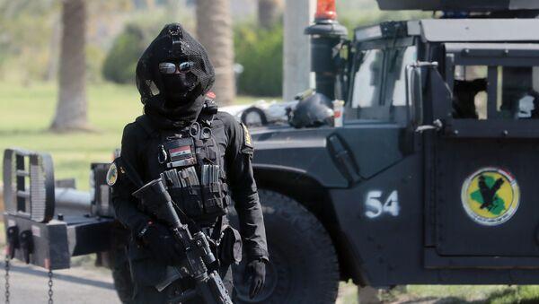 Żołnierz sił antyterrorystycznych. Bagdad, Irak. - Sputnik Polska