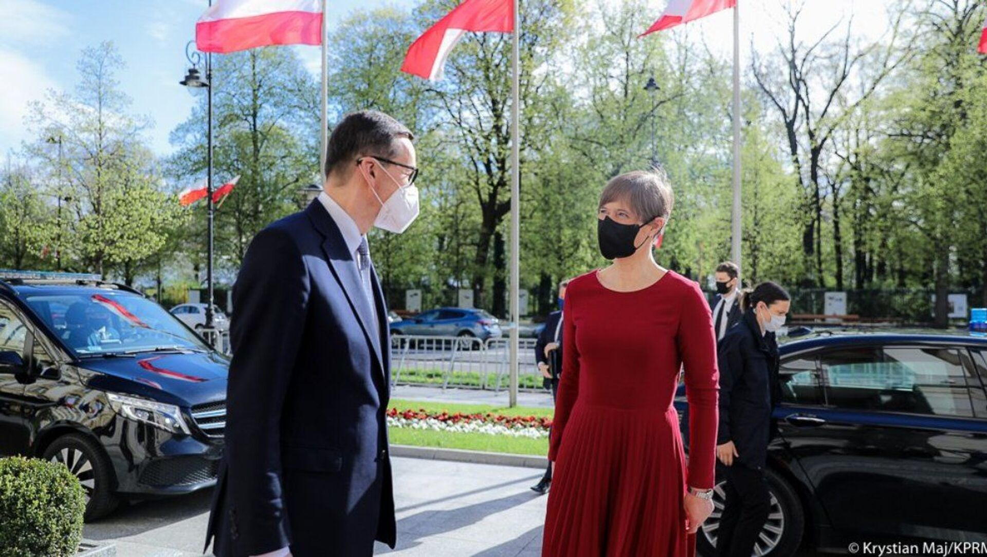 Spotkanie Morawieckiego i Kaljulaid - Sputnik Polska, 1920, 05.05.2021