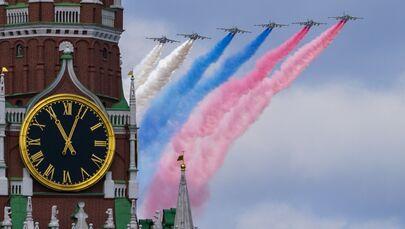Próba części powietrznej Parady Zwycięstwa w Moskwie