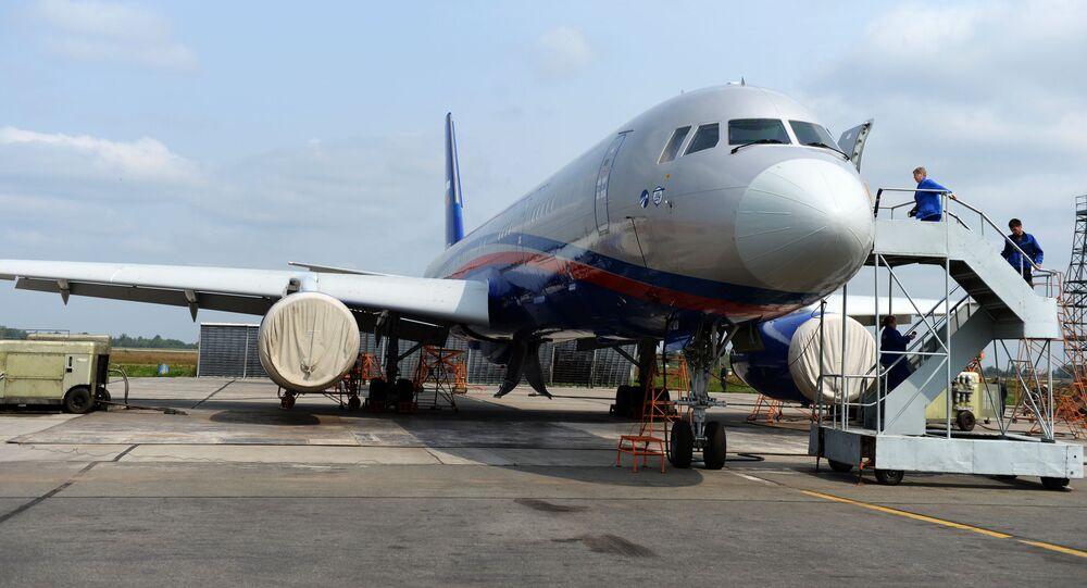 Tu-214ОН, stworzony do oblatywania państw uczestniczących w Traktacie o otwartych przestworzach.