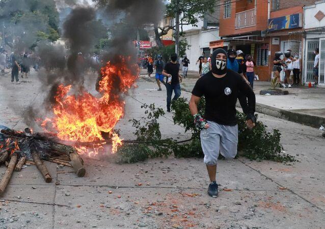 Protesty w Kolumbii.