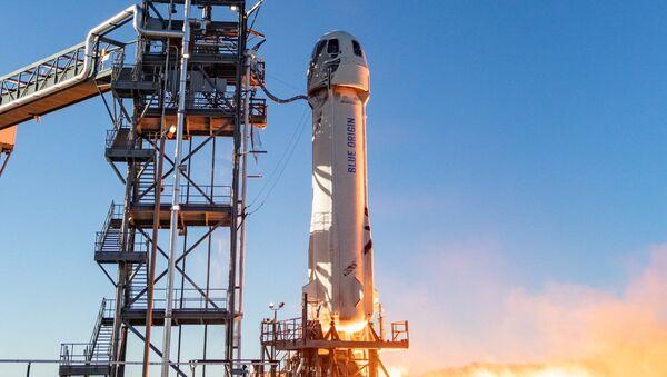 Statek kosmiczny New Shepard firmy Blue Origin. - Sputnik Polska