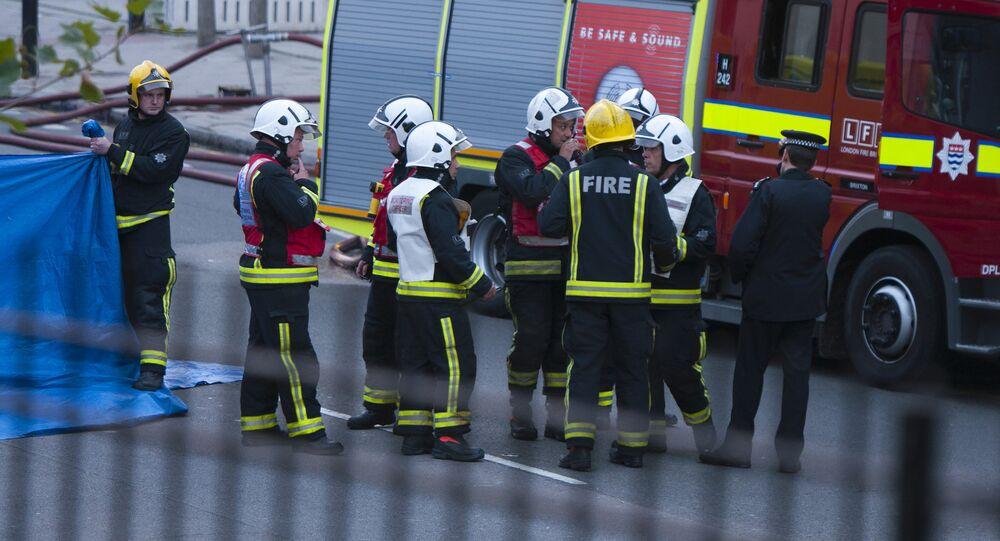 Strażacy w Londynie