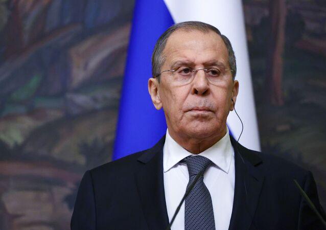 Minister spraw zagranicznych Siergiej Ławrow.