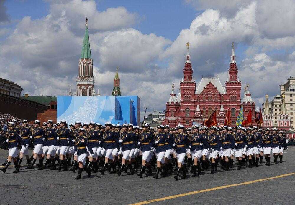 Próba generalna parady z okazji 76. rocznicy zwycięstwa w Wielkiej Wojnie Ojczyźnianej w Moskwie