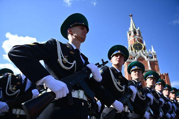 Próba generalna parady z okazji 76. rocznicy zwycięstwa w Wielkiej Wojnie Ojczyźnianej w Moskwie - Sputnik Polska