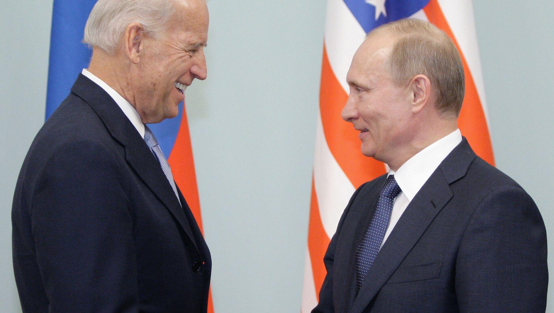 Spotkanie Władimira Putina i Joe Bidena w Moskwie. Zdjęcie archiwalne. - Sputnik Polska, 1920, 07.05.2021