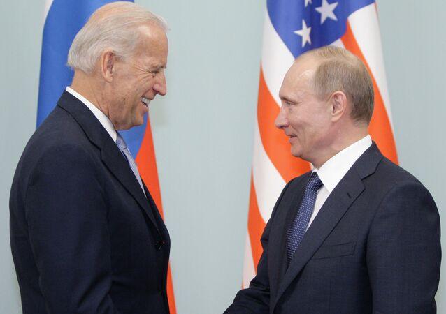 Spotkanie Władimira Putina i Joe Bidena w Moskwie. Zdjęcie archiwalne.