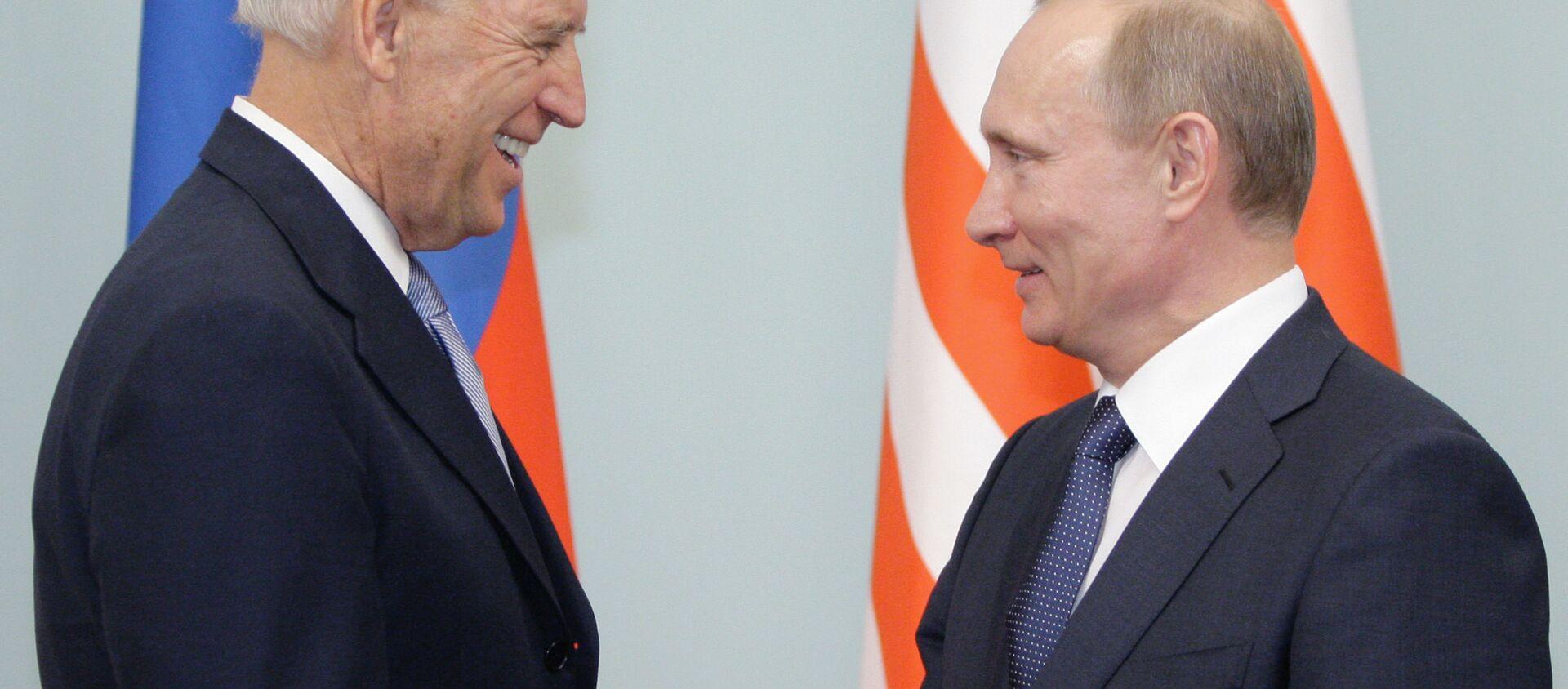 Spotkanie Władimira Putina i Joe Bidena w Moskwie. Zdjęcie archiwalne. - Sputnik Polska, 1920, 13.06.2021