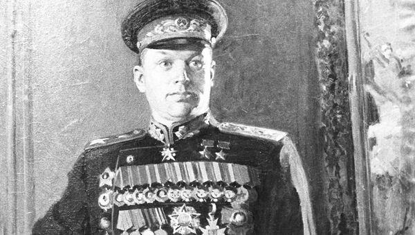 Portret K. Rokossowskiego, artysta: K. D. Kitajka - Sputnik Polska