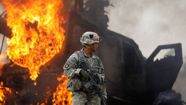 Amerykański kontyngent wojskowy w Afganistanie. - Sputnik Polska