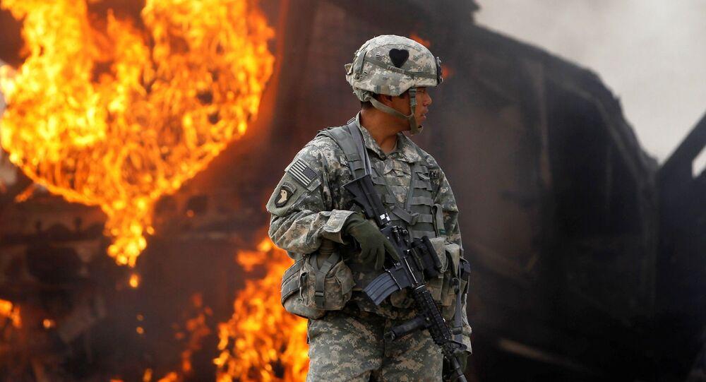 Amerykański kontyngent wojskowy w Afganistanie.