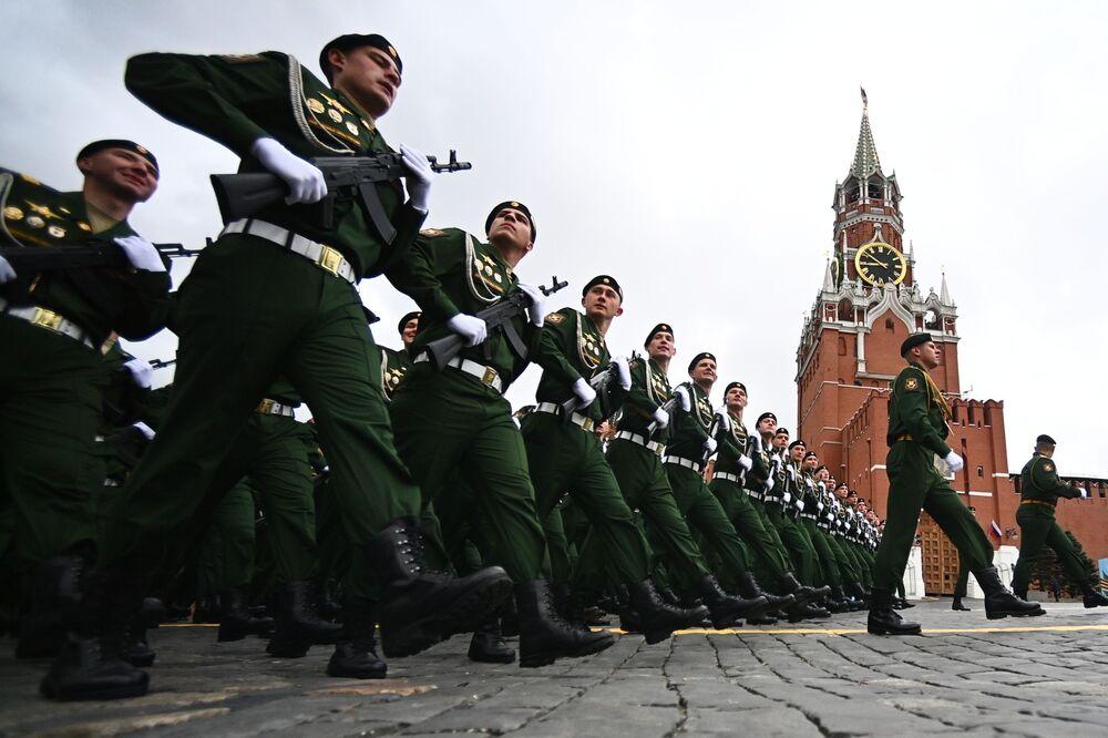 Parada Zwycięstwa 2021 na Placu Czerwonym w Moskwie