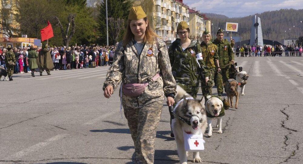 Dzień Zwycięstwa w Mieżdurieczensku, Rosja.
