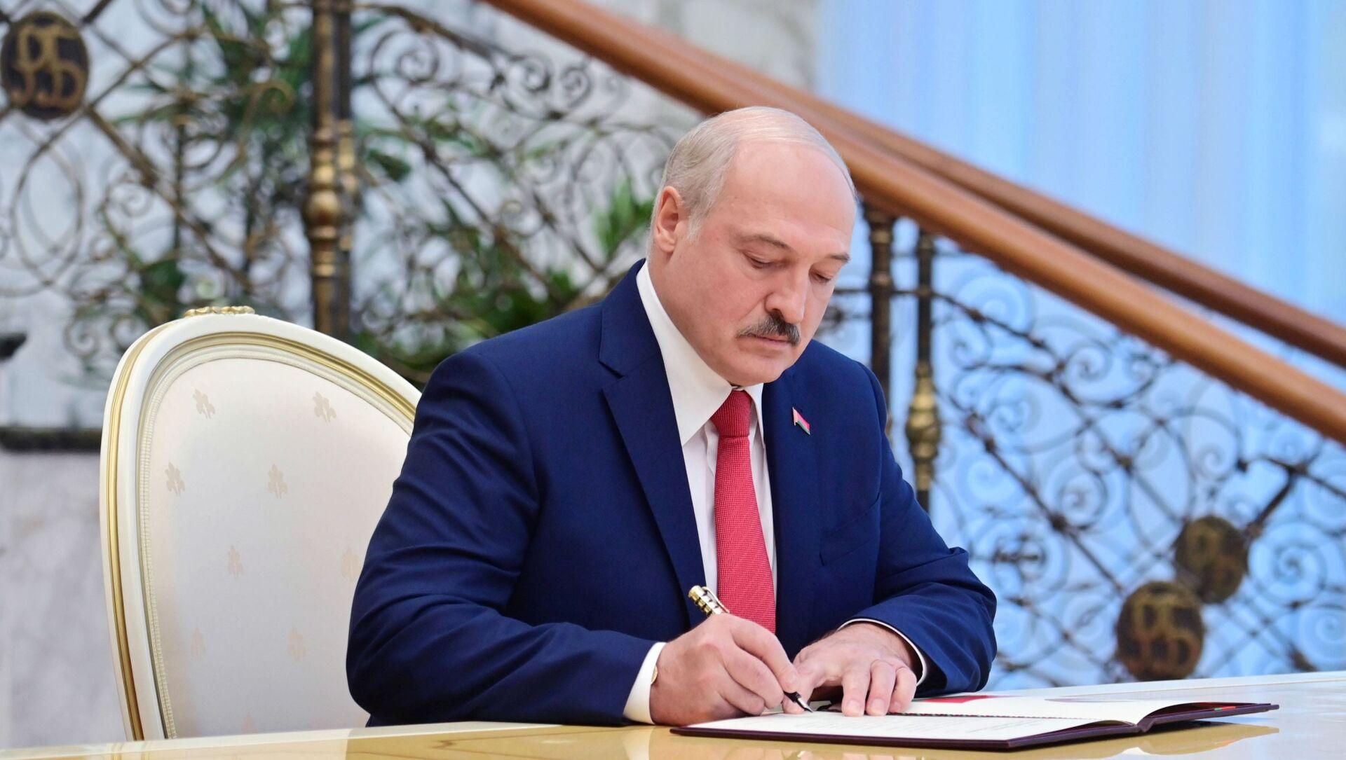 Prezydent Białorusi Aleksandr Łukaszenka. - Sputnik Polska, 1920, 09.05.2021