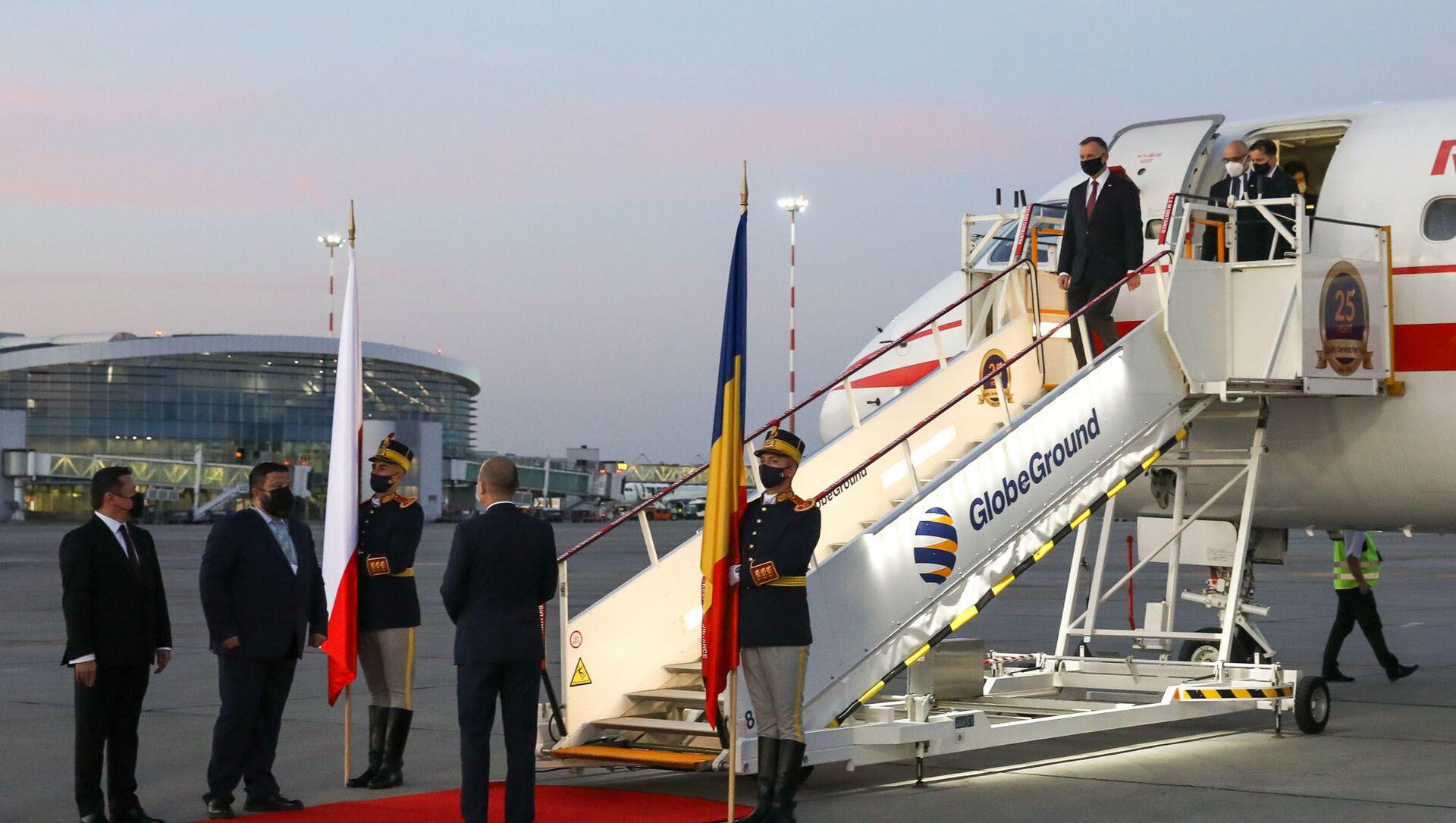 Prezydent Andrzej Duda z wizytą w Rumunii - Sputnik Polska, 1920, 10.05.2021