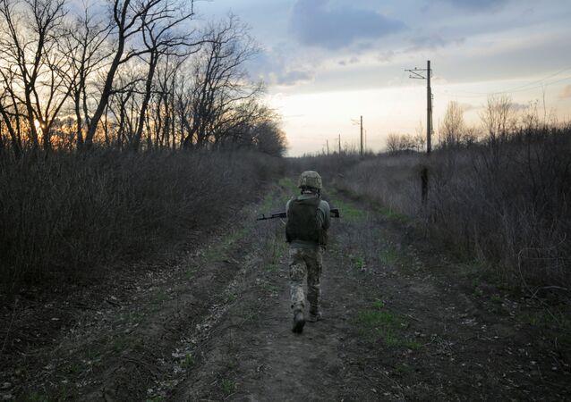 Ukraiński żołnierz.