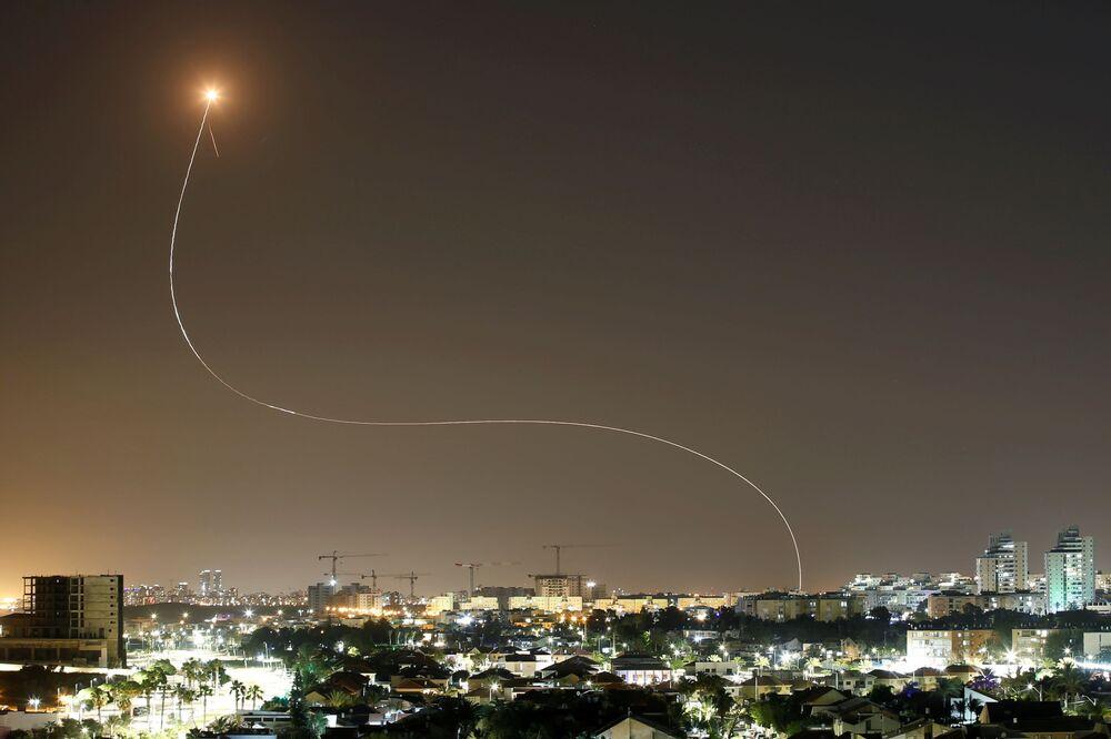 Przechwytywanie pocisków wystrzeliwanych z Sektora Gazy w Izraelu