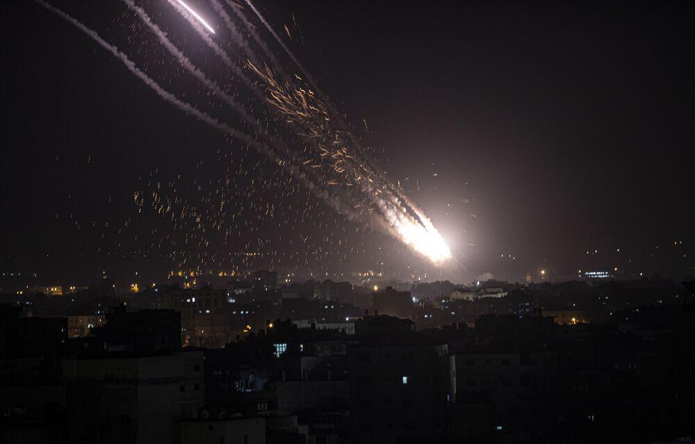 Pociski wystrzelone ze Strefy Gazy