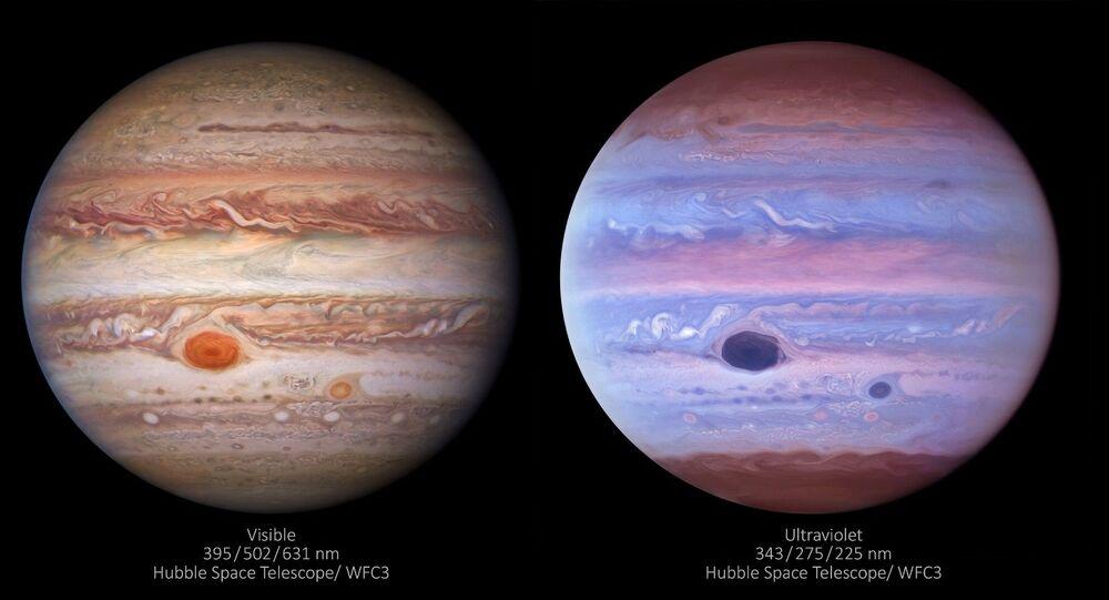 Jowisz na trzech zdjęciach