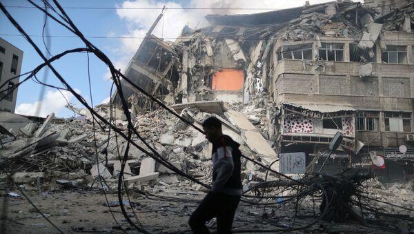 Dom mieszkalny w Strefie Gazy - Sputnik Polska