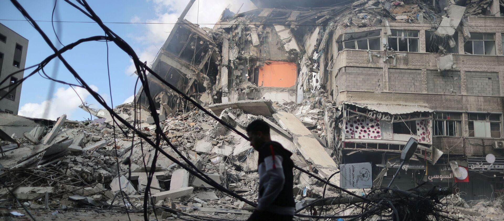 Dom mieszkalny w Strefie Gazy - Sputnik Polska, 1920, 18.05.2021