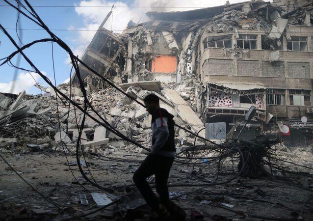 Dom mieszkalny w Strefie Gazy.