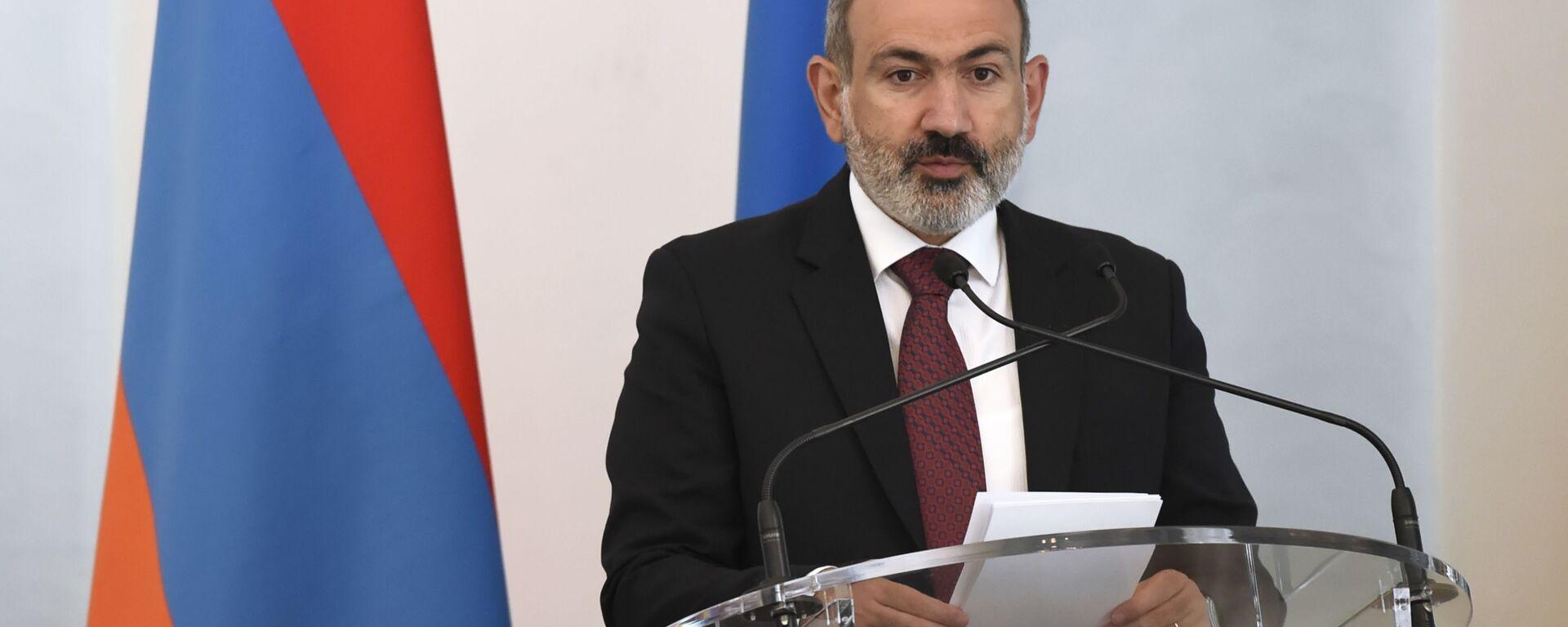 Pełniący obowiązki premiera Armenii Nikol Paszynian - Sputnik Polska, 1920, 29.07.2021