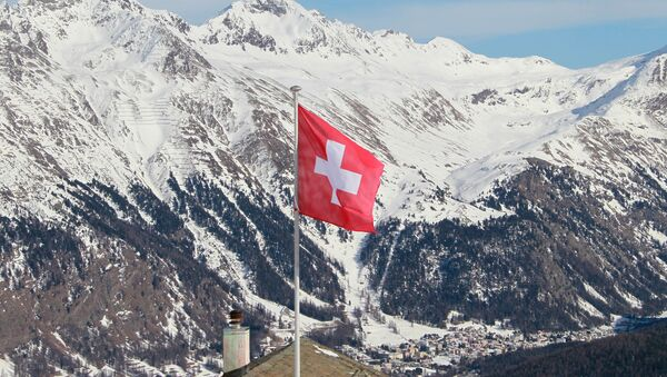 Kurort Sankt Moritz w Szwajcarii. - Sputnik Polska